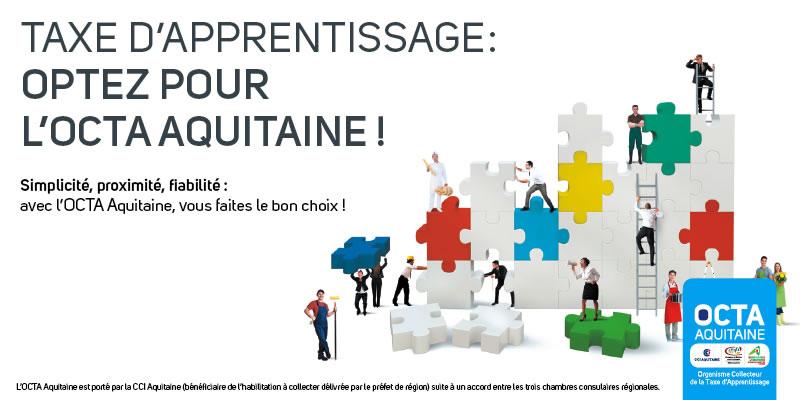 Taxe d'apprentissage : optez pour l'OCTA Aquitaine